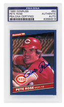 Pete Rose Signed Cincinnati Reds 1986 Donruss Trading Card #62 - $105.00