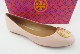 TORY BURCH Size 10 BENTON Pink Leather Ballet Flats Shoes - $168.00