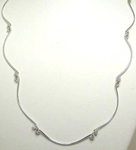 Argentium Sterling Silver Curved Bar Necklace Hand Forged - $40.99