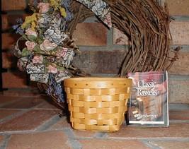 Longaberger Basket Oregano Booking Basket W Plastic Protector Hand Made ... - $26.68