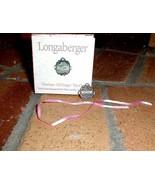 Longaberger Horizon Of Hope Pewter Basket Tie On New In Original Box - $8.86