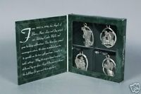 Primary image for Longaberger Ornaments Pewter Angels Set Of  4 New In Box Authentic