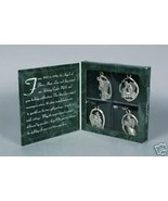 Longaberger Ornaments Pewter Angels Set Of  4 New In Box Authentic - $21.73