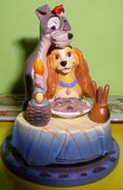 Disney Lady & Tramp Bella Note Ornament Figurine - $48.37