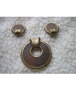 Vintage Boucher costume jewelry brown clip set - $30.00