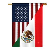 "US Mexico Friendship - 28"" x 40"" Impressions House Flag - H108205 - $36.87"