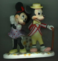 Disney  Mickey & Minnie WDP rare  Porcelain - $73.54