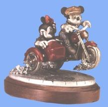 Disney Mickey & Minnie Motor Cycle Pewter  Figurine - $399.99