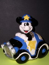 Disney Mickey Policeman with Car Music Box - $125.77