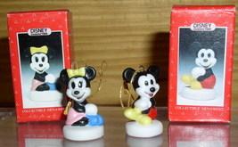 Disney Mickey & Minnie mini Schmid Porcelain 2 figures - $18.59
