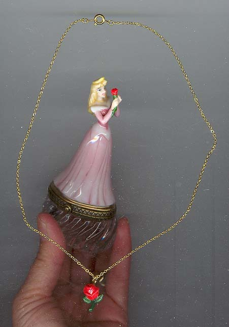 Disney Sleeping Beauty with necklace Figurine PHB mint