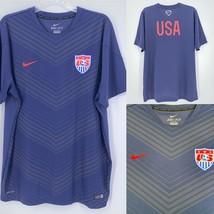 NIKE USA Soccer Football Pregame WORLD CUP Jersey Size XL 578799-410 Men... - $49.45