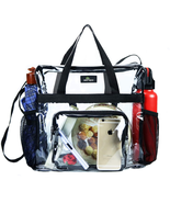 Clear Bag Stadium Approved Transparent See Through Clear Tote Bag For Wo... - $21.68