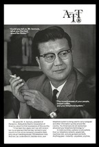 Telephone AT&T 1969 AD K. Isomura President Panasonic Matsushita Electri... - $14.99