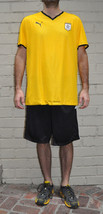Puma 1.08 Hollywood United Yellow Black Soccer Football Jersey 2XL Mens - $47.02