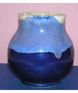 Vintage German Gebauer Blue Drip Glaze Art Pottery Vase - $49.99