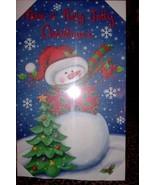 Lighted Holiday Wall Canvas Holly Jolly Christmas Snowman NEW Christmas ... - $20.00