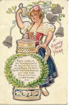 A Dutch American Happy New Year vintage 1909 Post Card - $10.00