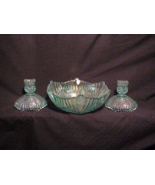 Fenton Console Beauty Bowl with Matching Candlesticks - $30.00