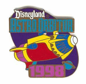 Primary image for Disney DL  1998  Attraction Astro Orbiter ride Pin/Pins