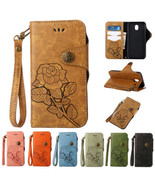 Rose Pattern PU Leather Case Wallet Flip Stand Cover For Samsung Galaxy ... - $7.63