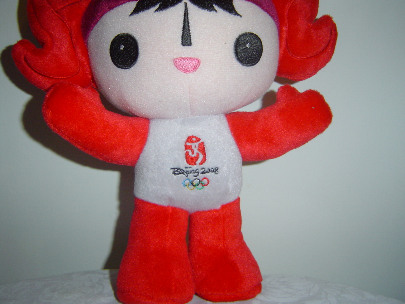 Beijing Summer Olympics Mascot Plush Huanhuan the Olympic Flame 14 in.