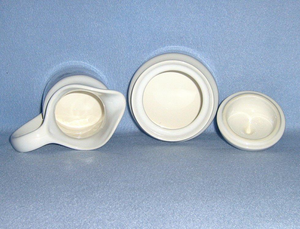 Pfaltzgraff Bonnie Brae Creamer and Sugar Bowl with Lid