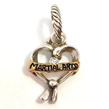 Brighton Martial Arts Charm, Two-Tone, J99912, New - $13.45
