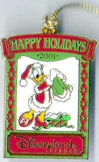 Disney DLR Daisy Christmas 2001 Ornament  Pin/Pins