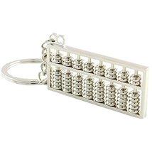 Creative Durable Abacus Keychain Car Key Holder Pendant Key Ring Silver - $20.14