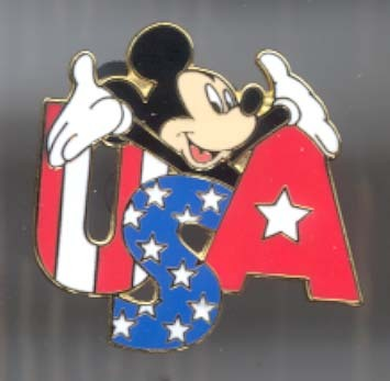 Disney Mickey USA Cast only Lanyard  pin/pins