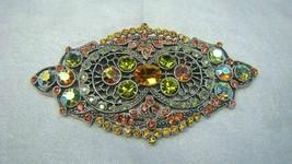Big Sweet Romance Victorian Filigree Rhinestones Pin - $29.99