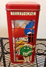 M & M TELEPHONE BOOTH CANISTER, TIN LIMITED EDITION 2002  - $9.99
