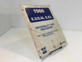 1986 Chrysler Driveability Test procedure 2.2 2.5 Liter Engines EFI - $12.99