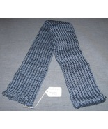 Soft Country Blue Knit Scarf - 60 inches - Hand... - $15.00