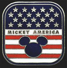 DISNEY Mickey America Flag  Pin/Pins