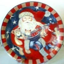 DECORATIVE COLLECTIBLE CHRISTMAS SANTA CHINA PLATE - $12.38