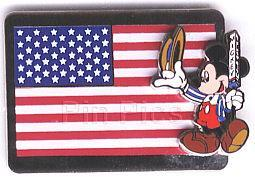 Disney Mickey Mouse for president  USA Flag Pin/Pins