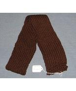 Dark Chocolate Brown Knit Scarf - 44 inches - H... - $9.75