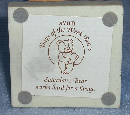 Avon Days of the Week Bears Saturday's Bear Works Hard for a Living