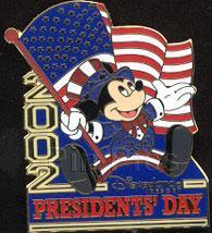 Disney Mickey Patriotic USA Presidents Dag Flag Pin - $22.24