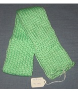 Seafoam Green Knit Scarf - 40 inches - Handcrafted - $7.50