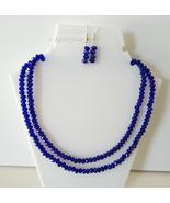 ROYAL BLUE CRYSTAL NECKLACE - $25.00
