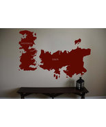 Game of Thrones World Map Westeros Essos Vinyl Wall Sticker Decal  32 in... - $27.99