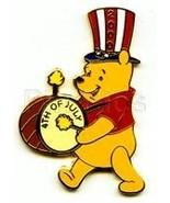 Disneyland Winnie patriotic drumer LE Pin/Pins - $24.18