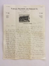 1925 antique LEW W YARNALL TRANSFER and STORAGE PERSONAL LETTER lakeland... - $34.95