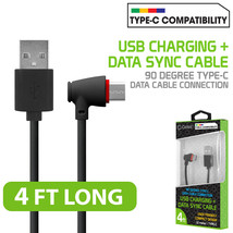 USB Type C 90 Degree Right Angle Data Charge Cable for Galaxy S8, S8+, L... - $8.95