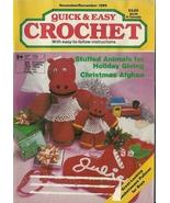 Quick And Easy Crochet Magazine November December 1989  - $9.98