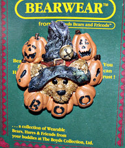 "Boyds BearWear ""Wilson the Wizard..BOO!"" Lapel Pin - #26023- New -1998- Retired - $9.99"