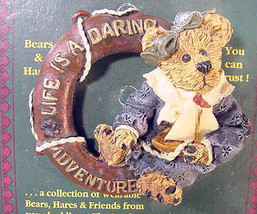 "Boyds BearWear""Bailey.. Life is a Daring Adventure"" Lapel Pin-#26106-New-Retired - $6.99"